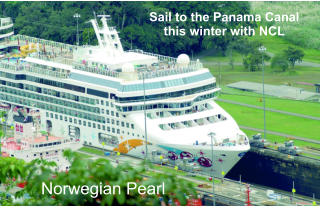 Sail to the Panama Canal this winter with NCL Norwegian Pearl